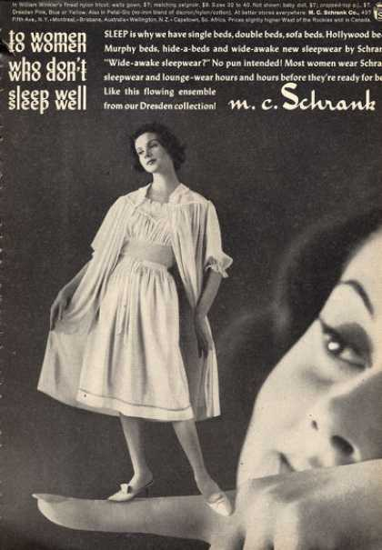 M. C. Schrank Fashion Gown Sleepwear (1960)