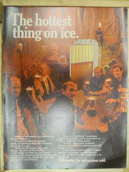 Kelvinator refrigerators. The hottest thing on ice (1968)