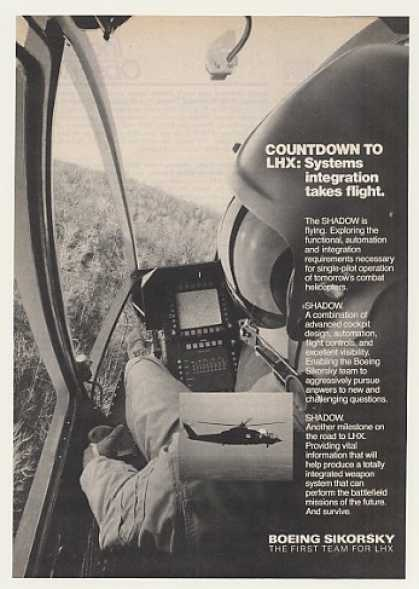 Boeing Sikorsky Shadow Helicopter (1986)