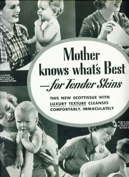 Scottissue Toilet Paper Ad Pretty Baby (1937)