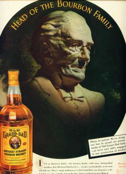 Old Grand Dad Bourbon Whiskey (1943)