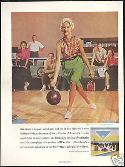 AMF Bowling Center Magic Triangle Photo (1961)