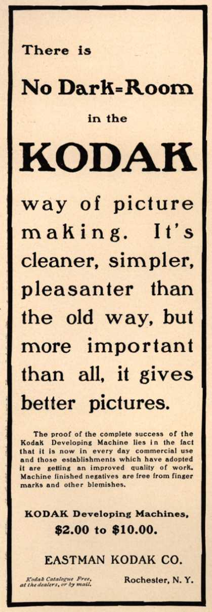 Kodak – There is No Dark-Room in the Kodak way of picture making. (1904)