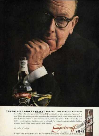 Sir Cedric Hardwicke Photo Smirnoff Vodka (1958)
