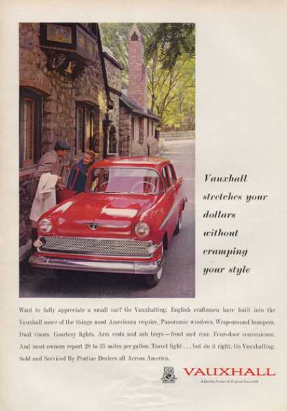 Pontiac Sold Vauxhall English Car (1959)
