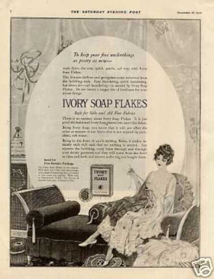 Ivory Soap Flakes Ad Norman Price Art (1920)