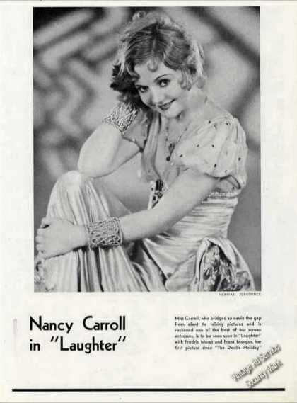 "Nancy Carroll In ""Laughter Theatre Print Photo (1930)"