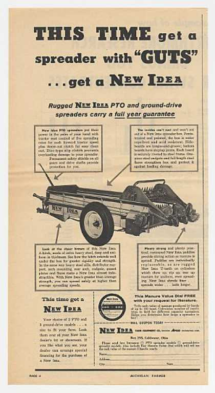 New Idea PTO Spreader With Guts (1959)