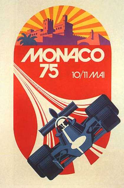 Monaco Grand Prix by Geo Ham (1975)