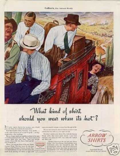 "Arrow Shirts Color Ad ""What Kind of Shirt... (1936)"