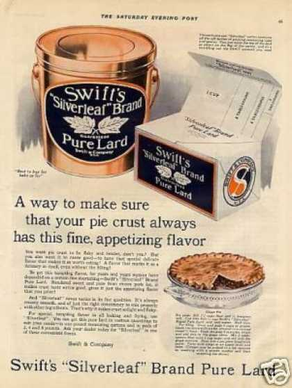 Swift's Silverleaf Lard (1925)