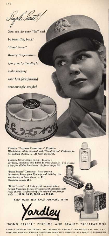 Yardley of London's Bond Street Perfume and Beauty Preparations – Simple Secret (1942)
