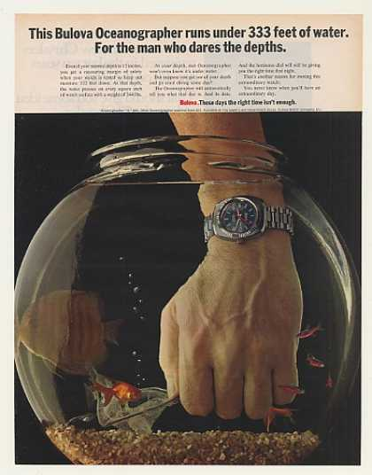 Bulova Oceanographer Q Watch Hand in Fish Bowl (1971)