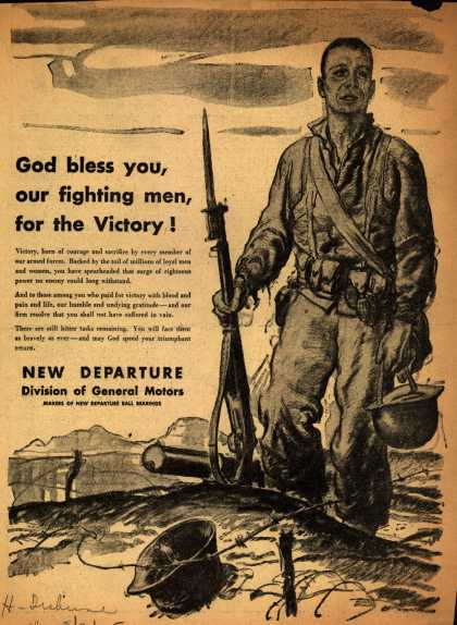 General Motors Corp.'s Post-War thanks – God bless you, our fighting men, for the Victory (1945)