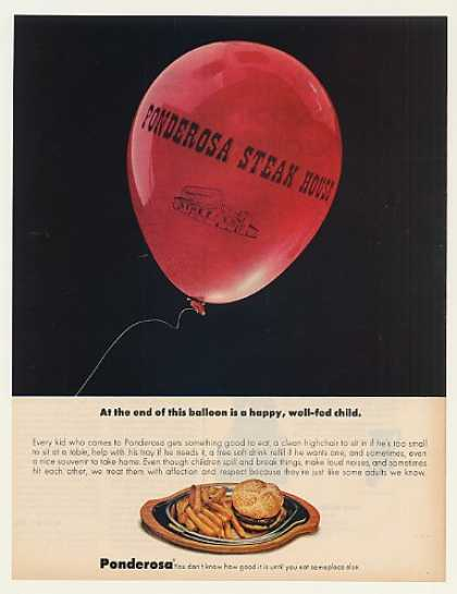 Ponderosa Steak House Restaurant Balloon (1972)