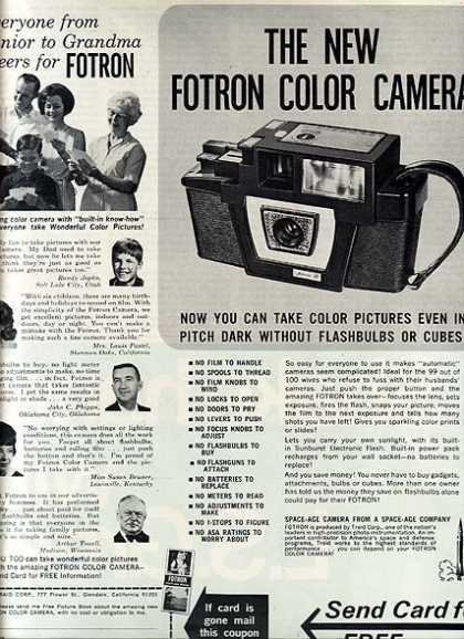 Fotron's New Color Camera (1966)