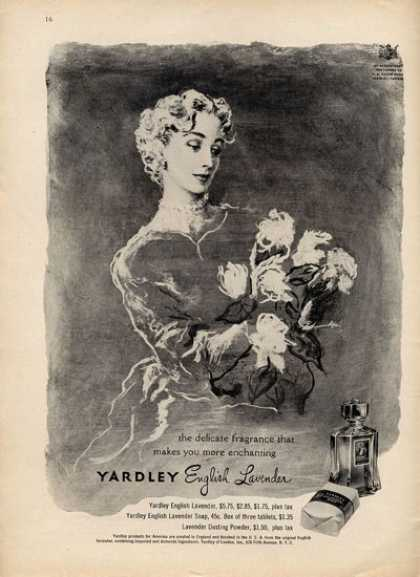Yardley English Lavender Fashion Art (1949)