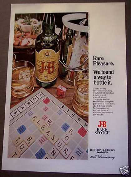 J & B Rare Scotch Scrabble Board Game (1975)