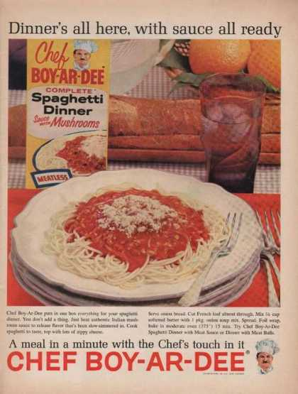 Chef Boy-ar-dee Spaghetti Dinner (1962)