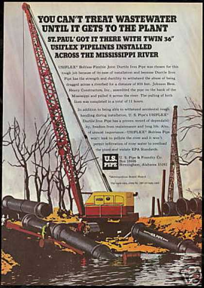 Mississippi River St Paul U.S Pipe Co (1973)