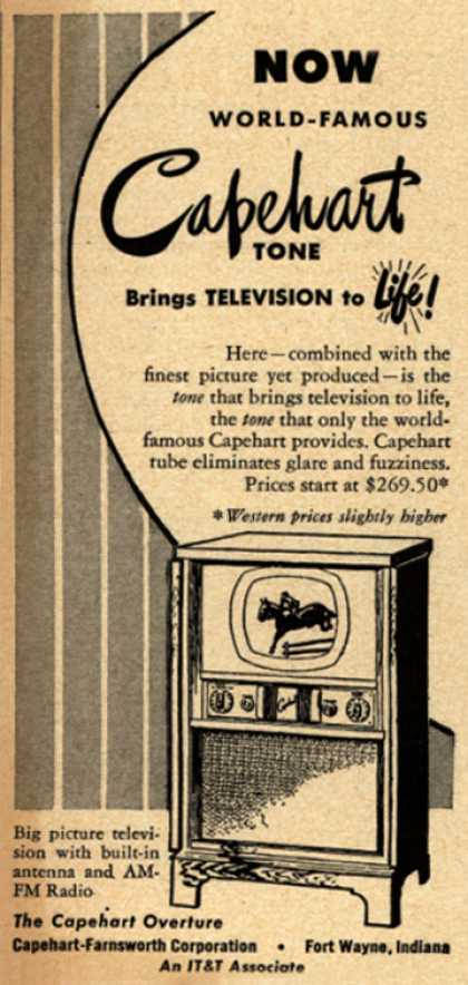 Capehart-Farnsworth Corporation's The Capehart Overture Television Combination – Now World-Famous Capehart Tone Brings Television to Life (1949)