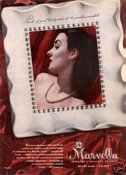 Marvella Pearls Jewelry (1945)