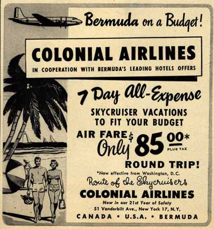 Colonial Airline's Skycruiser vacation – Bermuda on a Budget (1950)