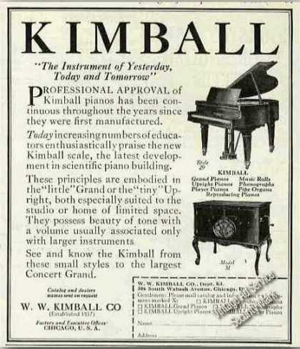 Kimball Pianos Collectible Antique (1924)