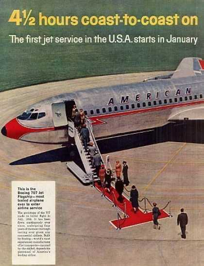 American Airlines Ad Centerfold (1958)
