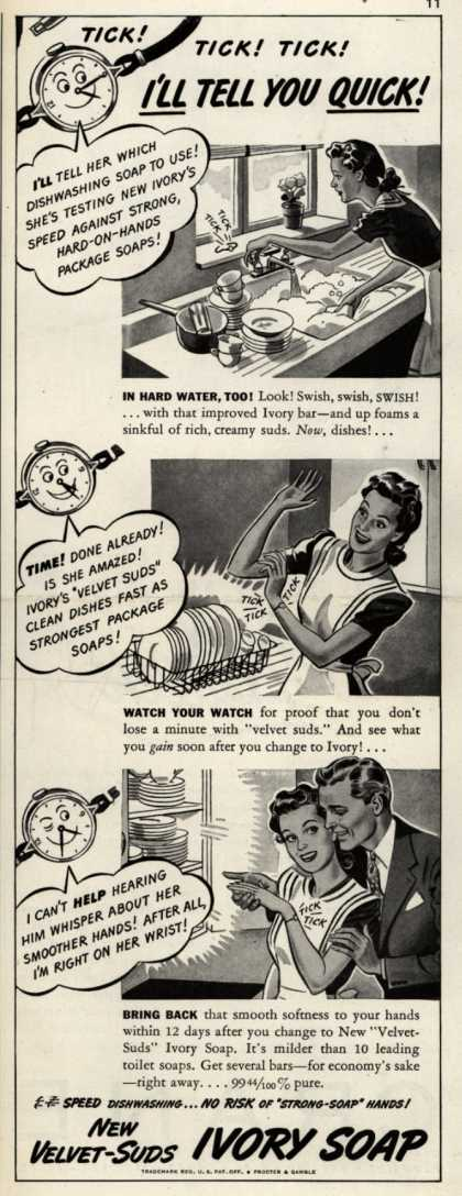Procter & Gamble Co.'s Ivory Soap – Tick!Tick!Tick! I'll Tell You Quick (1942)