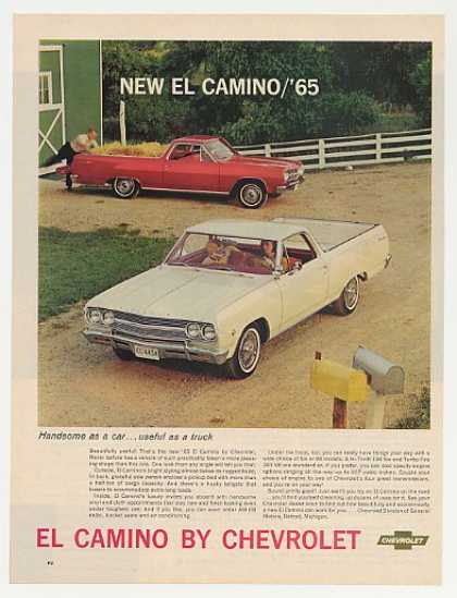 Chevy El Camino Handsome Car Useful Truck (1965)