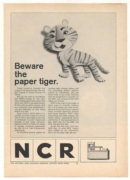 NCR Fortran IV Computer Software Paper Tiger (1966)