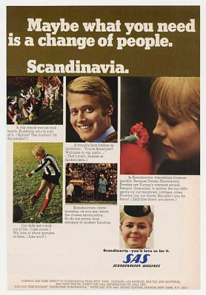 SAS Scandinavian Airlines Scandinavia Photos (1968)