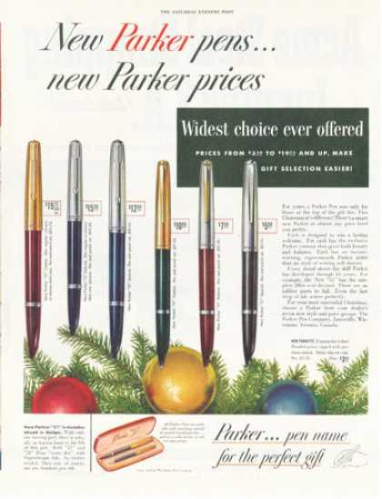 Parker Pen Writing Instruments 6 Models (1952)