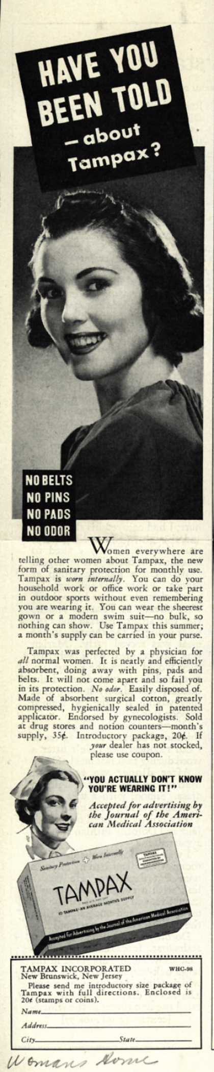 Tampax's Tampons – Have You Been Told-about Tampax? (1938)