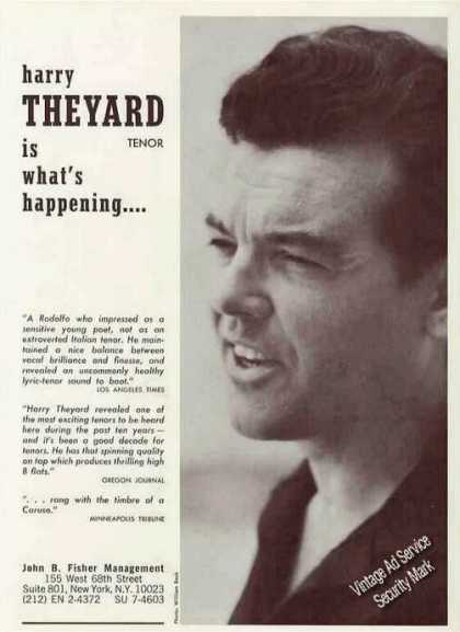 Harry Theyard Photo Tenor Booking (1967)