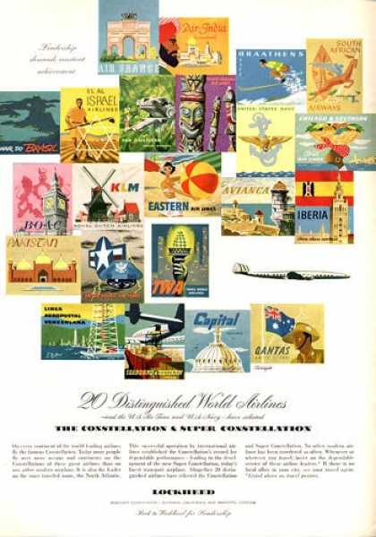 Lockheed World Airlines Posters (1952)