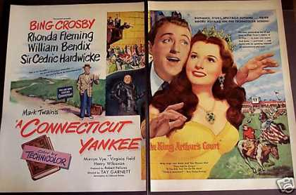 Bing Crosby a Connecticut Yankee Movie Promo 2p (1949)