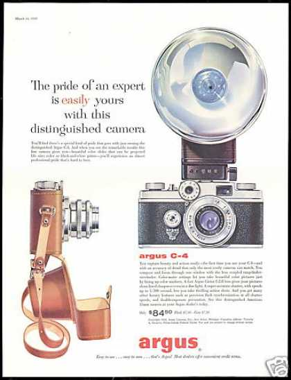 Argus C-4 C-Four Camera Flash Vintage (1956)