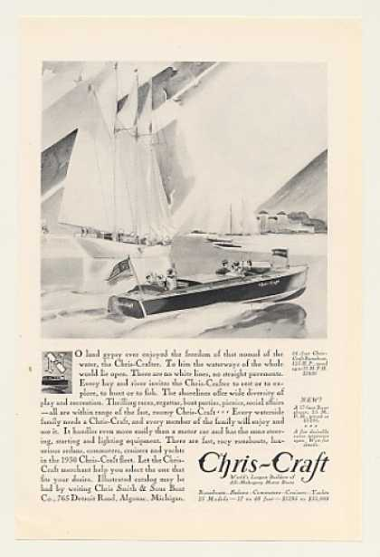 Chris-Craft 24-Foot Runabout Boat (1930)