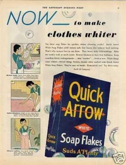 Quick Arrow Soap Flakes (1931)