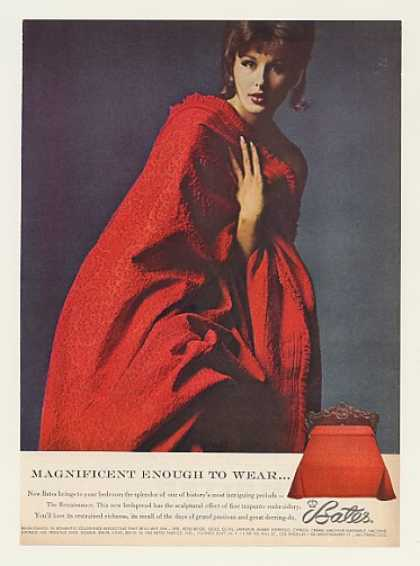 Bates Renaissance Bedspread Magnificent to Wear (1962)