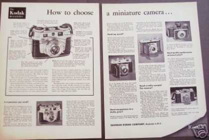 Kodak Miniature Camera 2 Pg Photo (1953)
