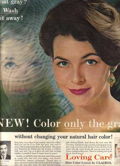 Clairol's Loving Care Hair Color Lotion (1962)