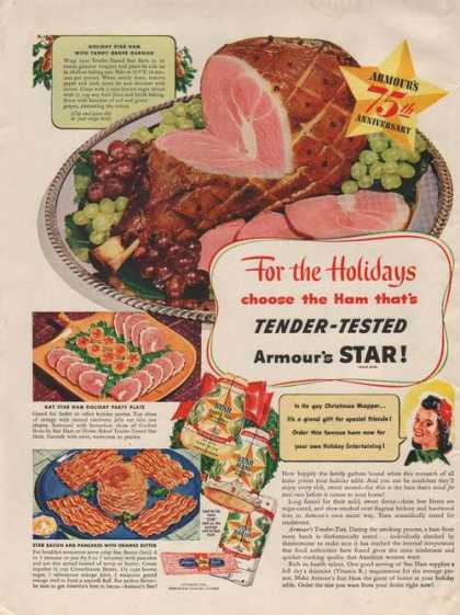 Tender Tested Armours Star Ham (1941)