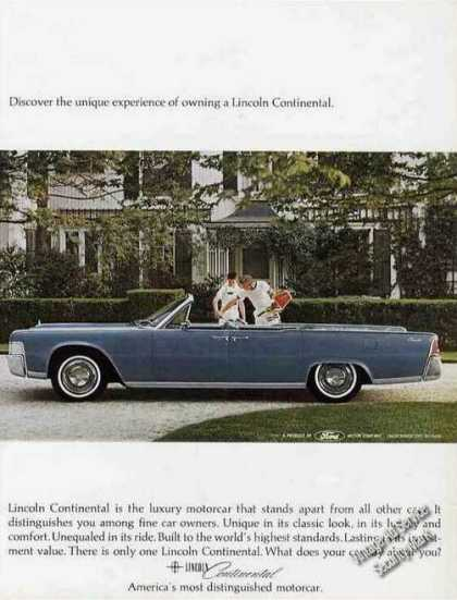 Blue Lincoln Continental Convertible Photo (1965)