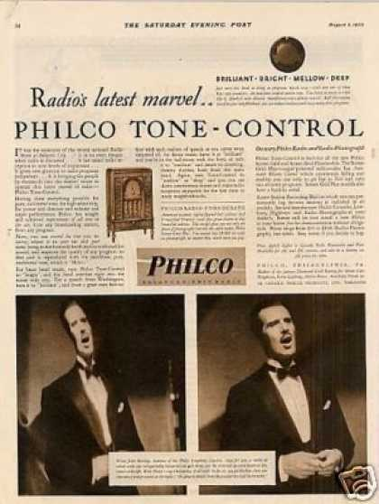 Philco Radio Ad John Barclay (1930)