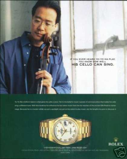 Yo-Yo Ma Photo Print Cello Rolex Watch (2005)