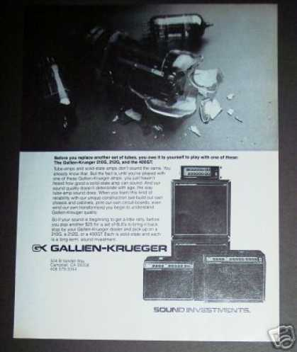 Gallien Krueger Solid State Amplifiers (1978)
