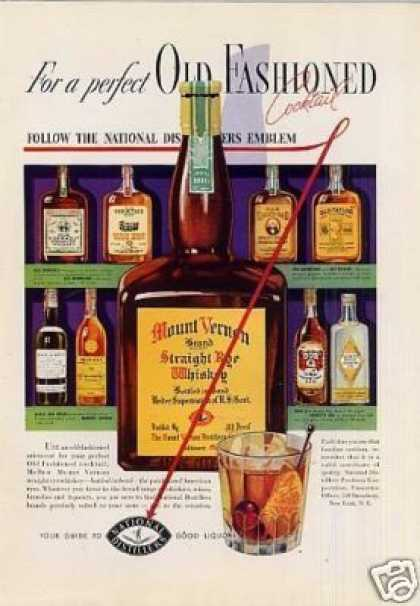 Mount Vernon Rye Whiskey Color (1937)